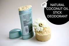 DIY stick deodorant with coconut oil