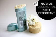 DIY stick deodorant with coconut oil