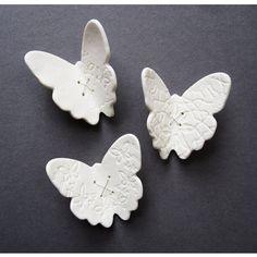 White porcelain wall art sculpture Flutter Set by PrinceDesignUK, $69.00