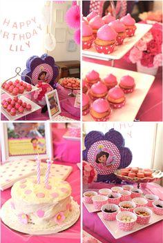 Dora and polka dot birthday party