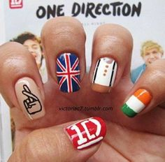 One Direction nail art: I love doing this :)