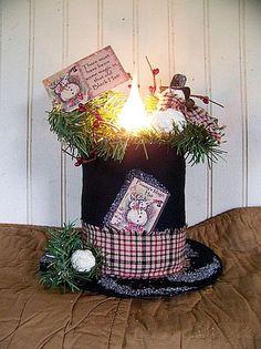 Primitive Snowman  Frosty's Magical Hat by CherylsPrimkeepsakes, $29.99