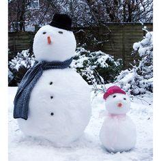 Snow Man and Snow Girl