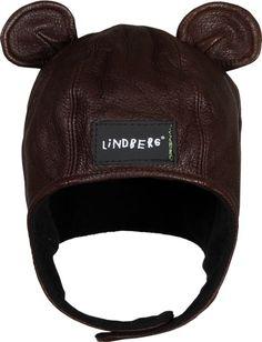 LINDBERG, BEAR HAT: a cross between an aviator cap and a bear hat!