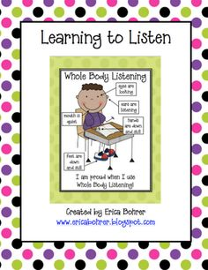 Whole body listening, poster and activity