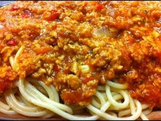 Receta: Salsa bolognesa vegetariana (y vegana) para pastas (vegetarian/veg