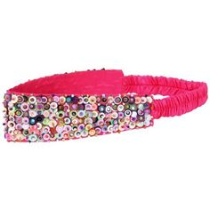 Girls Headband Hot Pink Sparkly Sequined By Back From Bali Mulit-Colored Back From Bali, http://www.amazon.com/dp/B007VMW2L0/ref=cm_sw_r_pi_dp_9adEqb172VB9S