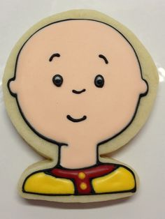 I hate him, but these are great! Caillou Inspired Cookies by DecoratedDesserts on Etsy, $36.00