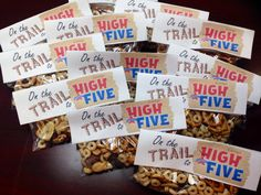 Boosterthon Camp High Five @ Bryant Elementary, Tampa FL 10/2013 Teacher Treats: Trail Mix