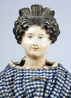 Charming German Papier-Mâché Lady Doll. : Lot 362