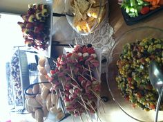 Couples shower appetizers kabob, coupl shower, shower appet, bridal shower, shower idea, couple shower, chees skewer