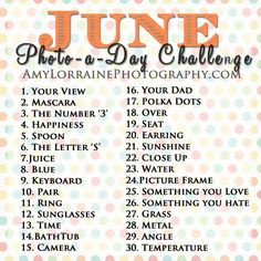 Photo a Day Challenge: June