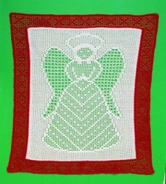 Angel Filet Crochet - Even though this is done in Thread, I think it would make a beautiful baby blanket done in sport/baby wt yarn.
