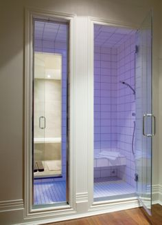 Shower with Steam bath in the back
