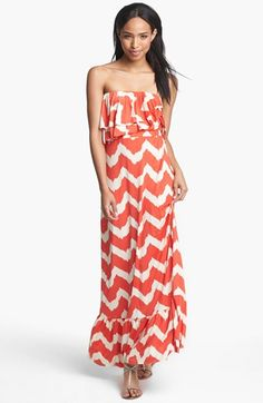 Tbags Los Angeles Ruffled Zigzag Maxi Dress | Nordstrom