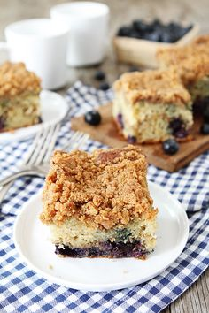 Blueberry Coffee Cake Recipe on twopeasandtheirpod.com. This cake is great for breakfast or dessert! #cake