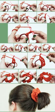 DIY #crochet scrunchy tutorial