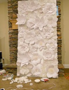 Cherry Foxes: flower backdrop diy for wedding