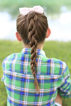 Chain link braid...another great style! #hairstyles #hairstyle #briad #chainlinkbraid #CuteGirlsHairstyles
