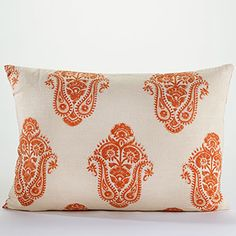 Burnt Orange throw pillows for the couch from World Market.