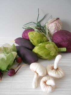 fabric garden vegetable play food
