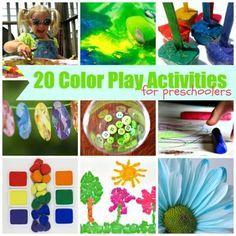 20 Color Play Activities for Preschoolers