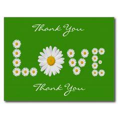 Daisies Love Thank You Postcard