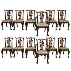 Set of 12 Mahogany C