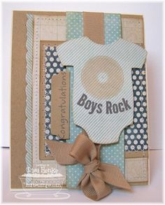 Baby Onesie Die-namics and Stamp Set - Lisa Henke