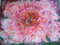 LARGE MIXED MEDIA PINK FLORAL BY ARTIST.  VIEW MY ITEMS ON ETSY GO TO ETSY GO TO HAND MADE BOX ARROW TO PEOPLE & PUT IN MY LOGO UINMIND AND HIT RETURN AND YOU WILL GO TO MY LISTINGS
