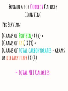 And to think I've been doing it wrong this whole time! This is a full article with lots of pictures showing you the secret to save calories and count them correctly.