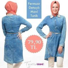 Grl - Mavi Tunik göz alıcı detayları ile sizlerle. Fiyatı 159,90 TL den 79,90 TL ye düştü. İncelemek için hemen tıklayın: www.tesetturisland.com Ürün Kodu:3143M #tunik #tesetturgiyim #hijab #tesetturisland