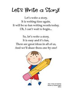 Free Poster:  Let's Write a Story!