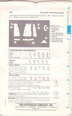Butterick 5256 1960s Girls Mock Wrap Dress Sewing Pattern Size 3 Toddler UNCUT FACTORY FOLDED. $10.00, via Etsy.