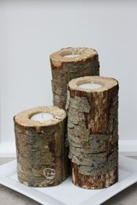 Rustic centerpiece candles!
