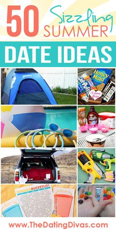 50 FUN Date Ideas for some Summer Lovin'!  Plus a free printable Summer Bucket List to write them all down on.  Love this! www.TheDatingDivas.com