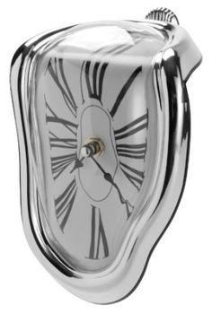 Relógio derretido, inspirado em Salvador Dalí.