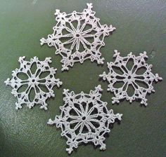 Crochet Snowflakes...I want to make enough to decorate the entire tree...so far....I have completed one !!!
