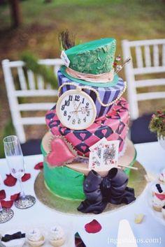 Wonderland Cake sweet 16 cakes, birthday parties, alice in wonderland, colorful cakes, tea, wonderland cake, party cakes, 30th birthday, birthday cakes