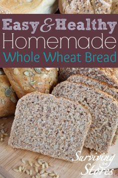 Make your own homemade whole wheat bread for much less than you would pay at the store! It is super easy to make too!