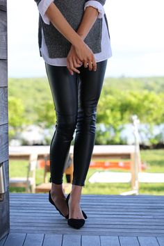 The faux-leather pant you need for fall from Banana Republic.