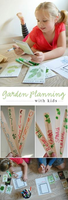 Great resources and inspiration for planning our spring gardens with the little ones in our lives...