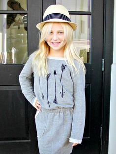 Joah love Grey Dress Tunic with arrows