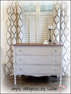 Painted white country dresser