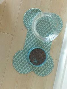 DIY doggie   placemat