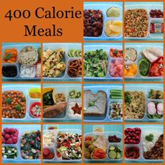 400 Calorie Meals packed for lunch in @EasyLunchboxes