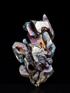 Acanthite coated with Chalcopyrite - Valenciana Mine, Mexico