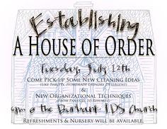 Establishing a house of order