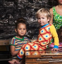 4funkyflavours 'A Face in the Crowd' sunburst romper & 'All Over You' Mexican multistripe dress. LOVE.