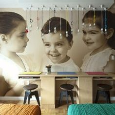 """9 Creative Ways to Personalize Your Childs Room"" - How cool is this personalized wallpaper?! (via POPSUGAR Moms) child room, interior design, beaches, photo walls, beach houses, bedrooms, photo galleries, triplet bedroom, brooklyn"